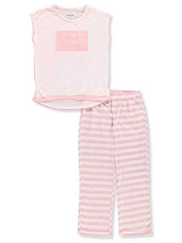 Pajama Top Dkny (DKNY Girls' 2-Piece Pajamas - Light Pink, 16)