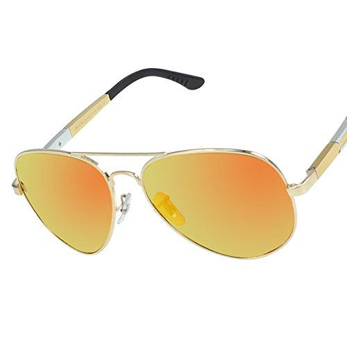 DUCO Aviator Style Oversize Polarized Sunglasses For Outdoor Sports Fishing Golf UV Protection 3026 Gold Frame Revo Orange - 3026 Aviator