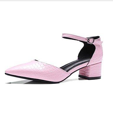 LvYuan las sandalias de las mujeres del resorte de los zapatos del club de verano del zurriago de la oficina&vestido de la carrera light pink