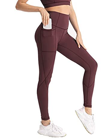 a67f8a927e Hopgo Women's High Waist Workout Leggings Power Flex Yoga Pants Tummy  Control 7/8 Sports