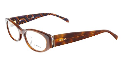 Prada PR 03PVA MAU1O1 Havana Oval Optical - Sale Prada