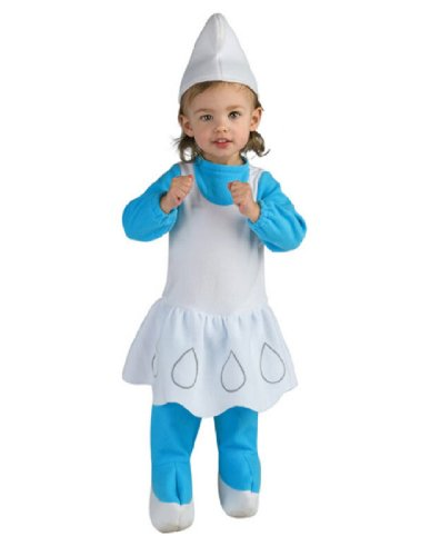 The Smurfs Romper And Headpiece Smurfette, Smurfette Print, 6-12 Months (Halloween Smurfs)