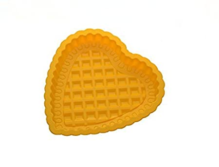 Chocolate Baking Mould for birthday and parties Cake Decoration Heart Shape Silicone Cake Mould Orange