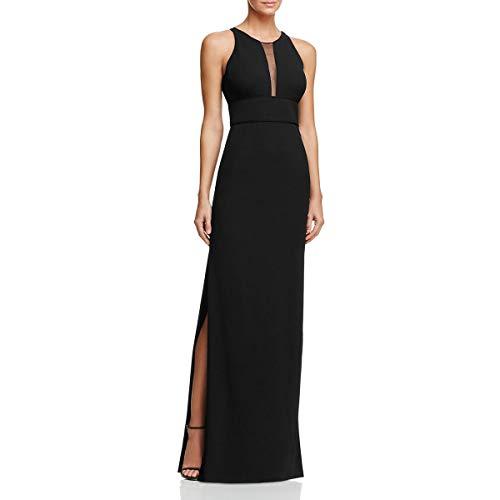 Aidan Mattox Womens Sleeveless Full-Length Evening Dress Black 2