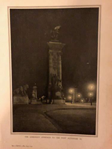 1908 Paris France by Night Pont Alexandre III Place De La Concorde Opera House