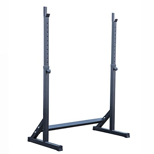 Adjustable Squat Rack Stand Barball Free Press Bench Equipment Training Crossfit by Happybeamy