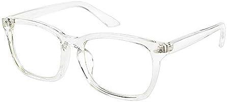 Cyxus Blue Light Blocking Computer Glasses for Men Women Square Frame Eyeglasses UV Filter Lens Gaming Glasses (Crystal 8082)