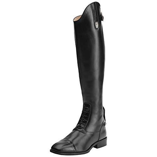 ARIAT Women's Monaco Lx Field Zip Tall Riding Boot Black Calf Size 6 B/Medium Us ()