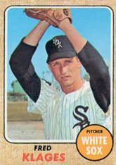1968 Topps Regular (Baseball) card#229 Fred Klages of the Chicago White Sox Grade Fair/Poor