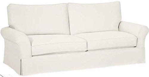 The Cotton Sofa Cover Only Fits Pottery Barn PB Comfort Grand Roll Arm Sofa. A Durable Sofa Slipcover Replacement (Beige Box Edge) (Couch Pottery Covers Barn)