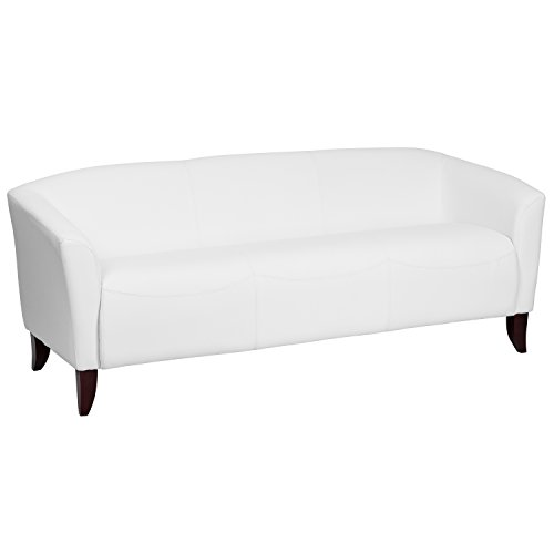 ULES Imperial Series White Leather Sofa (Series White Leather)