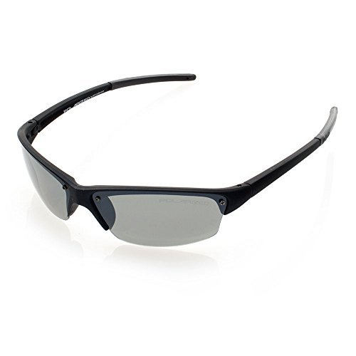 NYS Collection Eyewear Baxter Street Plastic Sport Sunglasses (Black, - Eyewear Nys