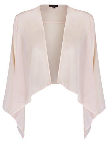 likemary Sheer Chiffon Shrug Bolero Jacket for Evening & Day Dresses (Blush Pink US 14)