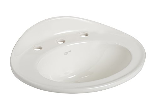 Mansfield Plumbing Products Essence Vitreous China Circular Drop-In Bathroom Sink with Overflow