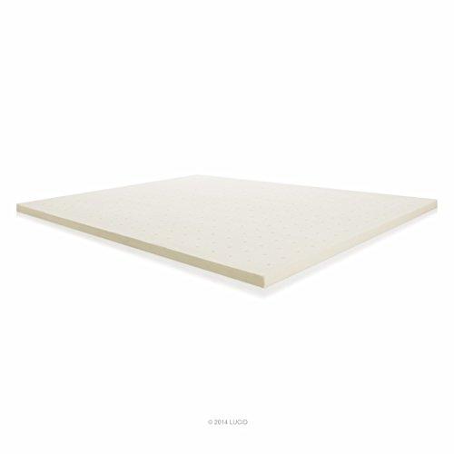 Lucid Linenspa 2 Inch Ventilated Memory Foam Mattress Topper, Queen