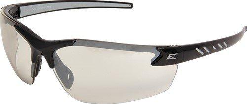 Edge Safety Glasses Zorge Magnifier Clear Lenses Black Frame ()