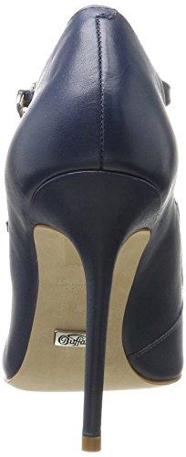 geschlossene Neue Damen 7369 Denim London 06 Buffalo Zs 16 Leder weichem aus Lederpumps Blau xqCRfY4