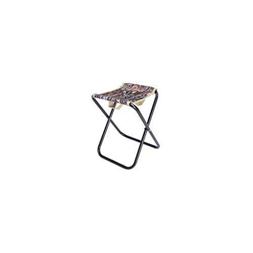 AIDELAI Bar Stool chair- Leisure Outdoor Folding Chair Fishing Chair Portable Folding Stool Mini Small Thick Mazar Chair Beach Chair (30 24 26cm) Saddle Seat (Color : B) by AIDELAI