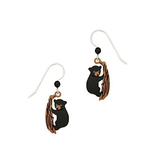 Sienna Sky Bear Cub Climbing Trees Earrings - Earrings Bear