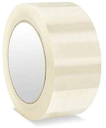 AlexVyan 2 inch Width 65 Meter Length High Adhesive Transparent Cello Clear BOPP Tape for Packing Office Company Industry Home Packaging (Pack of 1)