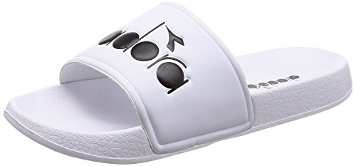 Diadora Men's Serifos 90 Flip Flops, Black White