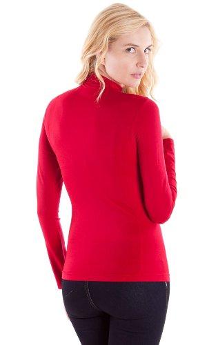 Clothes Effect Women's Seamless Long Sleeve Turtleneck Top