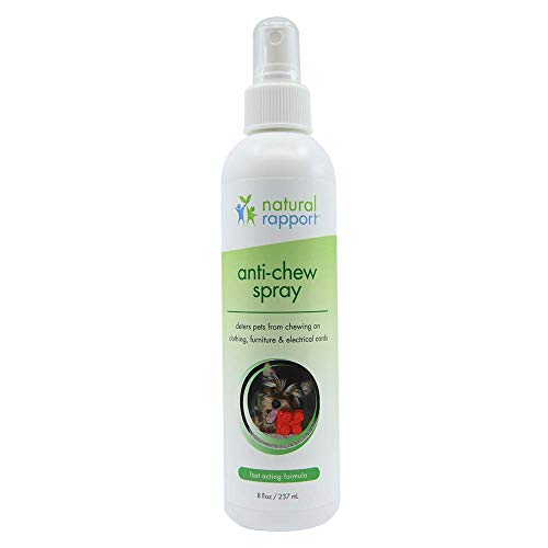 (Natural Rapport Anti-Chewing Spray for Dogs and Cats Pet Bite, Chew, and Licking Repellent and Deterrent Sprays for Furniture (8 fl oz.))