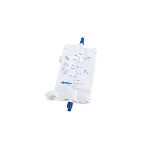 Medegen Medical 02555 Urinary Drainage and Leg Bag, 600 mL, Medium (Pack of 50) by Medegen Medical (Image #1)