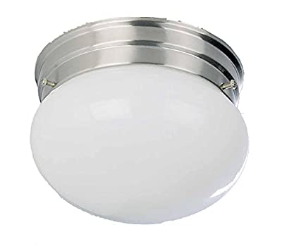 Volume Lighting V7008-33 2-Light Flush Mount Ceiling Fixture, Brushed Nickel