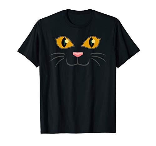 Halloween Black Cat Face | Kitty Lover T-Shirt Gift -