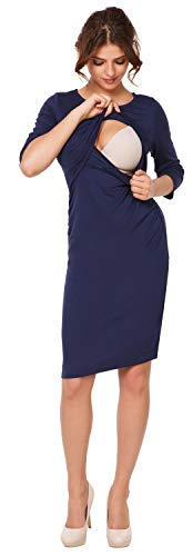 Mama Vestito strati Donna Marina prémaman Happy disegno Abito 972p l'allattamento a f1pTf