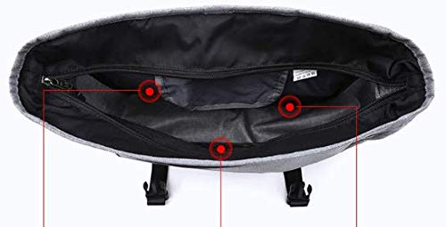 Size : Gray TangFeii Casual Slung Shoulder Bag Simple Cross Bag Oxford Cloth Messenger Bag