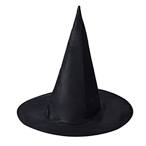 BESSKY Halloween Adult Women's Witch Hat Costume Accessory (5PCs Black)