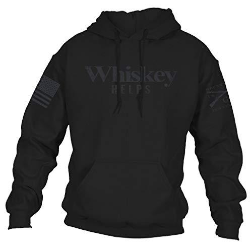 (Grunt Style Whiskey Helps Men's Hoodie, Color Black, Size Medium)