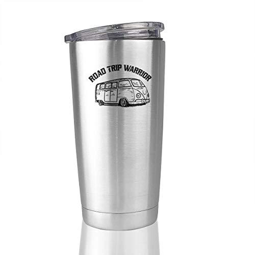 20oz Stainless Steel Tumbler Road Trip Warrior Vacuum Insulated Travel Mug Novelty Gift