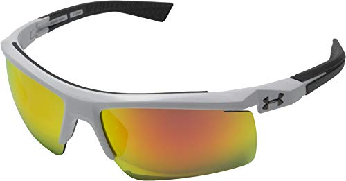Under Armour Sunglasses Shield, UA CORE 2.0 Shiny White/Charcoal Frame/Gray/Orange MULTIFLECTION Lens, ()