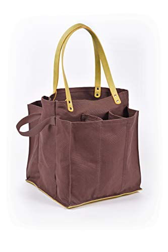 (Capabunga MT03 Tote+Able 7-Pocket Farmer's Market Tote, Chocolate Brown)
