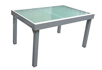 Garten Ausziehtisch Garten Tisch Esstisch Glas Aluminium   Sehr Hochwertig  Verarbeiteter Tisch Für Garten Oder Terrasse