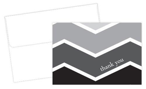 White Stripe Folded Note - 7