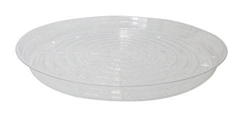 Round Clear Plastic Pot (Clear Plant Saucers - 5 Pack of 14