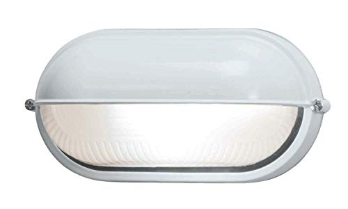 (Nauticus - Wet Location Bulkhead - White Finish - Frosted Glass)