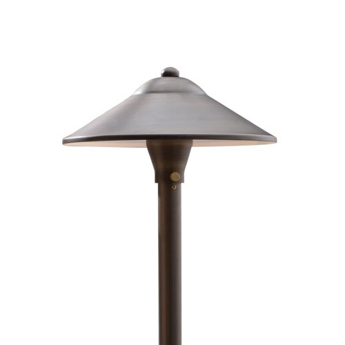 Outdoor Landscape Lighting Stem (VOLT 330-48 Max Spread 12V Path and Area Light, Cast Brass, Bronze Finish, Lamp Included, 24