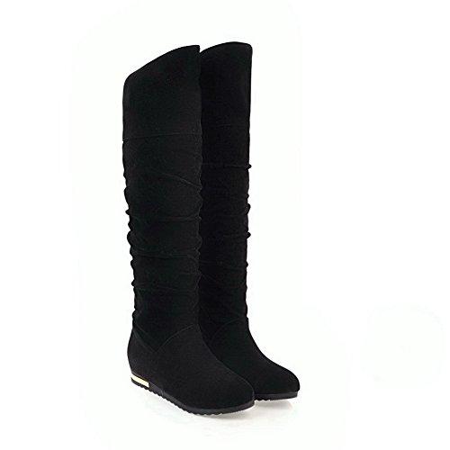 BalaMasa Womens Fashion Slip-Resistant Comfort Suede Boots ABL10232 Black Li8DGx