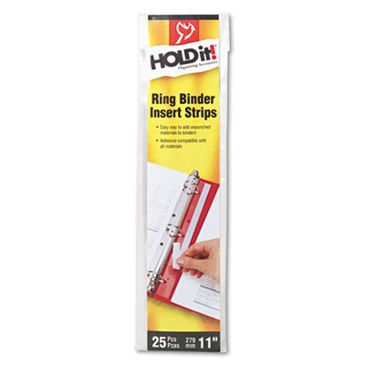 Reinforcement Strip (HOLDit! Self-Adhesive Multi-Punched Binder Insert Strips, 25 Strips/Pack, Sold as 25 Each)