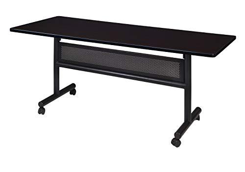 Regency MKFTM6030MW Mobile Training Table and Modesty Kobe Flip Top 60 x 30 inch Mocha Walnut