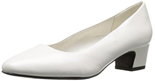 Easy Street Women's Prim Dress Pump, White, 7.5 M US