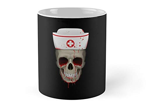 Army Mug Nurse Skull Funny Halloween Basic Witch Hocus Pocus costume scary spooky things broom trick or treat treating- 11oz -