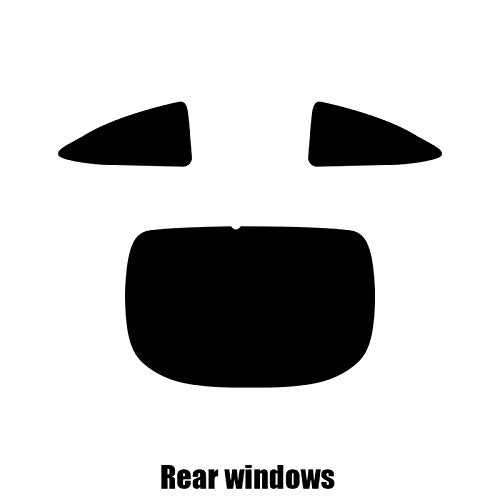 Front windows 35/% Light Smoke Jaguar XK Coupe Pre cut window tint 2008 to 2014