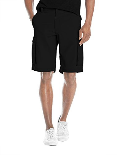 Agile Mens Super Comfy Flex Waist Cargo Shorts ASH45172 Black 34