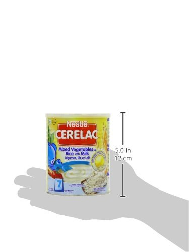 Nestle Cerelac, Mixed Vegetables and Rice with Milk, Stage 2, 14.1 Ounce Can